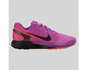 Damen & Herren - Nike Wmns Lunarglide 7 Vivid lila Schwarz Hyper Orange