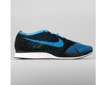 Damen & Herren - Nike Flyknit Racer Schwarz Foto Blau