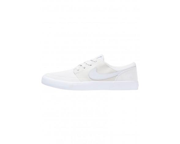 Nike Sb Solarsoft Portmore Ii Schuhe Low NIKt0r6-Weiß