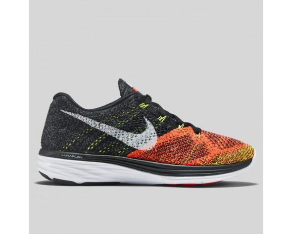 Damen & Herren - Nike Wmns Flyknit Lunar3 Schwarz Hot Lava