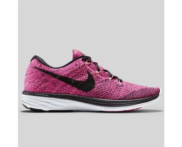 Damen & Herren - Nike Wmns Flyknit Lunar3 Pink Foil Schwarz
