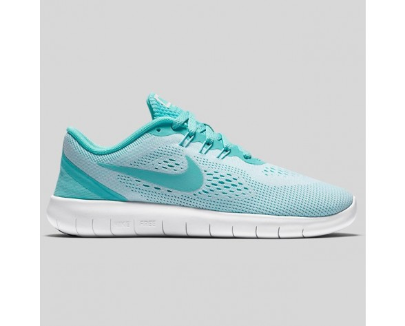 Damen & Herren - Nike Free RN (GS) Weiß Hyper Turquoise