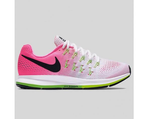 Damen & Herren - Nike Wmns Air Zoom Pegasus 33 Weiß Pink Blast Elektrisch Grün