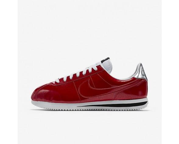 Nike Cortez Basic Premium QS Trainer - Turnhalle Rot/Weiß/Metallisches Silber