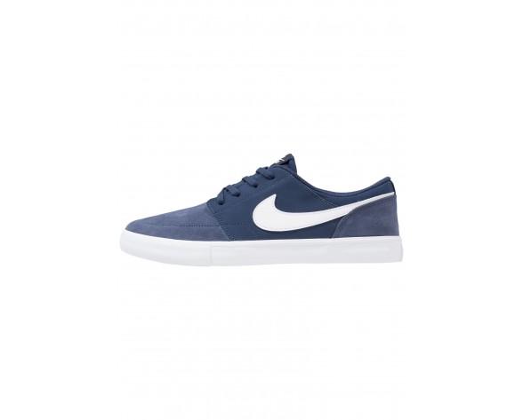 Nike Sb Solarsoft Portmore Ii Schuhe Low NIKh8b2-Blau