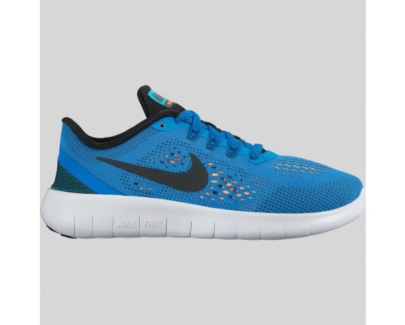 Damen & Herren - Nike Free RN (GS) Foto Blau Schwarz Total Orange