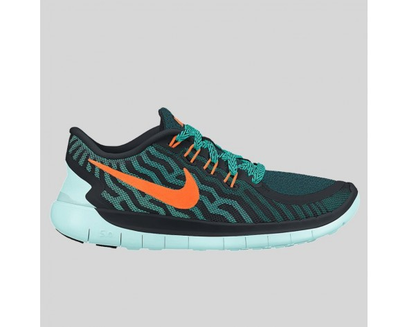 Damen & Herren - Nike Free 5.0 Schwarz Total Orange Light Retro