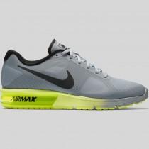 Damen & Herren - Nike Air Max Sequent Wolf Grau Schwarz Volt