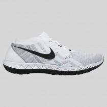 Damen & Herren - Nike Free 3.0 Flyknit Weiß Schwarz Rein Platinum