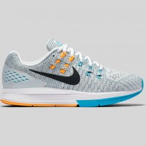 Damen & Herren - Nike Wmns Air Zoom Structure 19 Weiß Laser Orange Gamma Blau