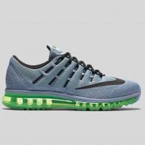 Damen & Herren - Nike Air Max 2016 Blau Grau Schwarz Elektrisch Grün