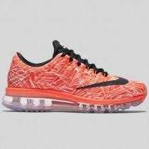 Damen & Herren - Nike Wmns Air Max 2016 Print Hyper Orange Schwarz