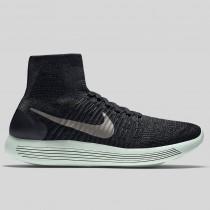Damen & Herren - Nike Lunarepic Flyknit LB Schwarz Metallisch Pewter Barely Grün
