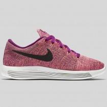 Damen & Herren - Nike Wmns Lunarepic Low Flyknit Hell Traube Schwarz Fire Pink