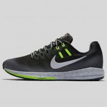Damen & Herren - Nike Wmns Air Zoom Structure 20 Shield Schwarz Metallisch Silber Dunkel Grau