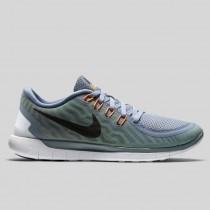Damen & Herren - Nike Free 5.0 Dove Grau Schwarz Elektrisch Grün