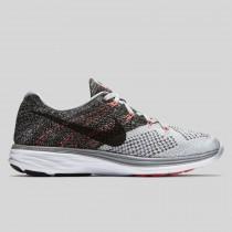 Damen & Herren - Nike Wmns Flyknit Lunar3 Wolf Grau Schwarz Hot Lava