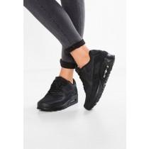 Nike Air Max 90 Schuhe Low NIKj2y5-Schwarz