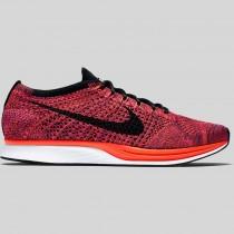 Damen & Herren - Nike Flyknit Racer Schwarz Hyper Orange Vivid lila