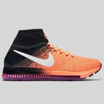 Damen & Herren - Nike Wmns Zoom All Out Flyknit Peach Cream Weiß Pink Fire