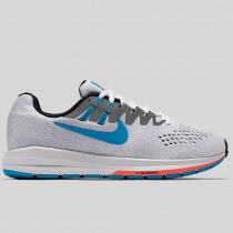 Damen & Herren - Nike Wmns Air Zoom Structure 20 ANN Weiß Blau Lagune Hot Lava