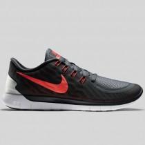 Damen & Herren - Nike Free 5.0 Anthracite Hell Karmesinrot Weiß