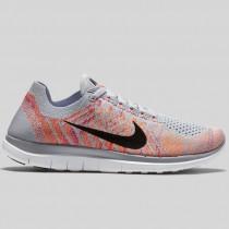 Damen & Herren - Nike Wmns Free 4.0 Flyknit Wolf Grau Atomic Pink