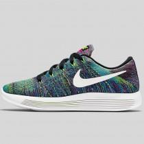 Damen & Herren - Nike Wmns Lunarepic Low Flyknit Schwarz Fire Pink Blau Glühen