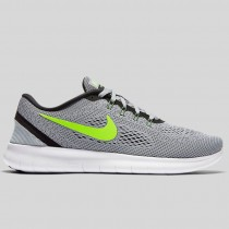 Damen & Herren - Nike Free RN Rein Platinum Elektrisch Grün Weiß