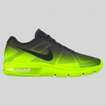 Damen & Herren - Nike Air Max Sequent Volt Schwarz Anthracite Fade