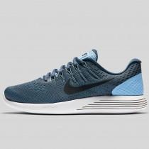Damen & Herren - Nike Lunarglide 8 Light Blau Schwarz Squadron Blau