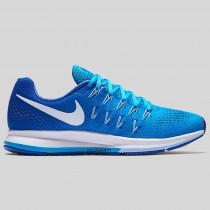 Damen & Herren - Nike Wmns Air Zoom Pegasus 33 Blau Glühen Weiß Racer Blau