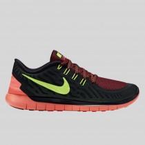 Damen & Herren - Nike Free 5.0 Schwarz Volt Gym Rote