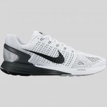 Damen & Herren - Nike Lunarglide 7 Weiß Anthracite Cool Grau
