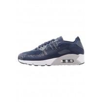 Nike Air Max 90 Ultra 2.0 Flyknit Schuhe Low NIKbzve-Blau
