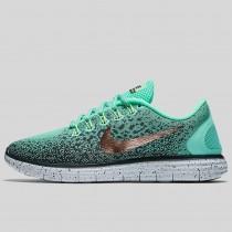 Damen & Herren - Nike Wmns Free RN Distance Shield Grün Glühen Metallisch Rote Bronze Hasta Seaweed