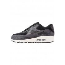 Nike Air Max 90 Premium Schuhe Low NIK1ovm-Schwarz