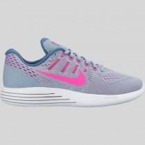 Damen & Herren - Nike Wmns Lunarglide 8 Blau Grau Pink Blast Blau Tint