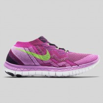 Damen & Herren - Nike Wmns Free 3.0 Flyknit Raspberry Rote Flash Lime