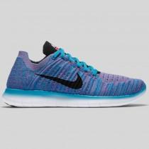 Damen & Herren - Nike Wmns Free RN Flyknit Gamma Blau Schwarz Pink Blast
