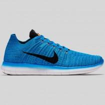 Damen & Herren - Nike Free RN Flyknit Foto Blau Schwarz Gamma Blau