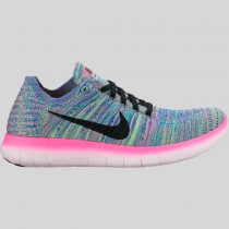 Damen & Herren - Nike Wmns Free RN Flyknit Pink Blast Schwarz Racer Blau Clear Jade