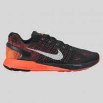 Damen & Herren - Nike Lunarglide 7 Schwarz Hell Karmesinrot