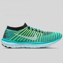 Damen & Herren - Nike Wmns Free RN Motion Flyknit Clear Jade Weiß Schwarz