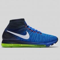 Damen & Herren - Nike Zoom All Out Flyknit Racer Blau Weiß Blau Glühen