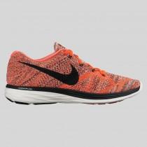 Damen & Herren - Nike Flyknit Lunar3 Hell Karmesinrot Schwarz Hyper Orange