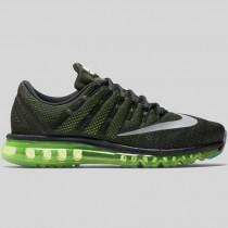 Damen & Herren - Nike Air Max 2016 Schwarz Spiegeln Silber Voltage Grün
