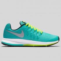 Damen & Herren - Nike Zoom Pegasus 33 (GS) Hyper Turquoise Metallisch Silber Clear Jade