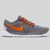 Damen & Herren - Nike Free 5.0 (GS) Cool Grau Total Orange