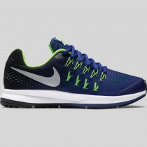 Damen & Herren - Nike Zoom Pegasus 33 (GS) tief Königlich Blau Metallisch Silber Schwarz